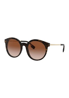 Burberry Round Acetate & Metal Sunglasses