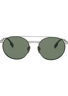 Burberry round frame aviator sunglasses