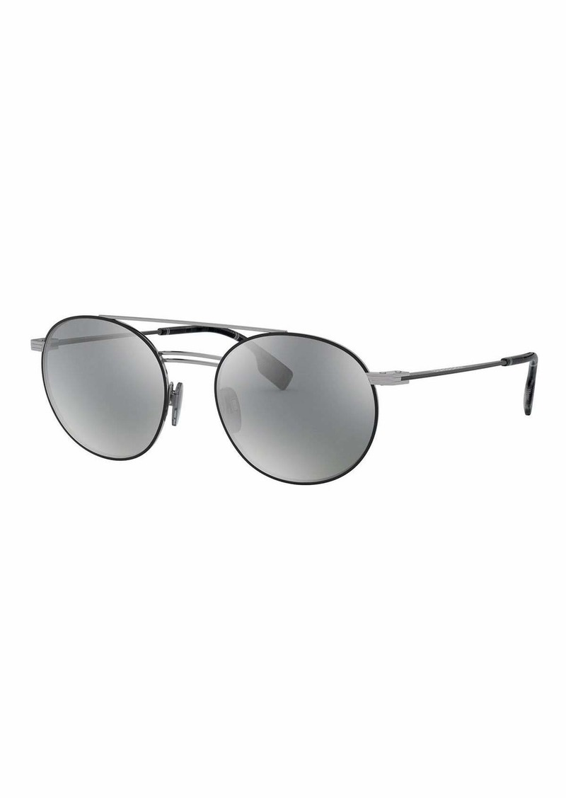 Burberry Round Mirrored Sunglasses