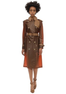 Burberry Rubber & Croc Printed Trench Coat