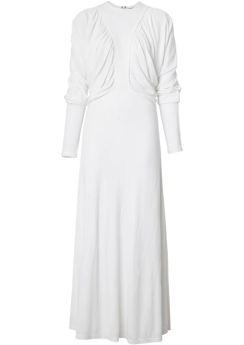Burberry Ruched Panel Jersey Gown