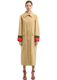Burberry Runway Ss18 Bonded Cotton Poplin Coat