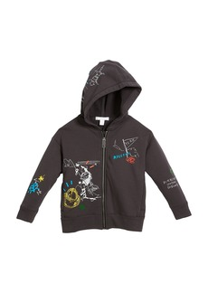 Burberry Sailing Scribble Zip-Up Hoodie