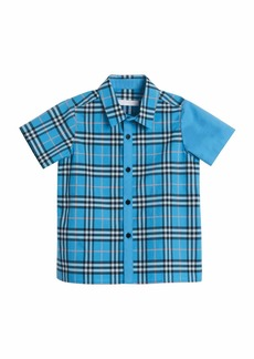 Burberry Sammi Emblem Check Short-Sleeve Shirt