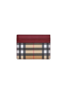 Burberry Sandon Vintage Check Card Case  Red