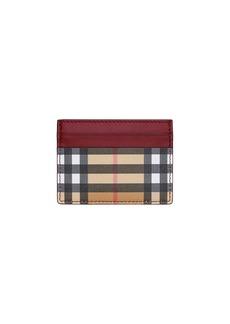 Burberry Sandon Vintage Check Card Case  Red