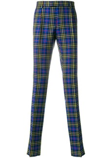 Burberry sapphire blue check trousers