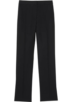Burberry Satin Stripe Detail Wool Tailored Trousers