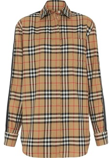 Burberry satin stripe check shirt