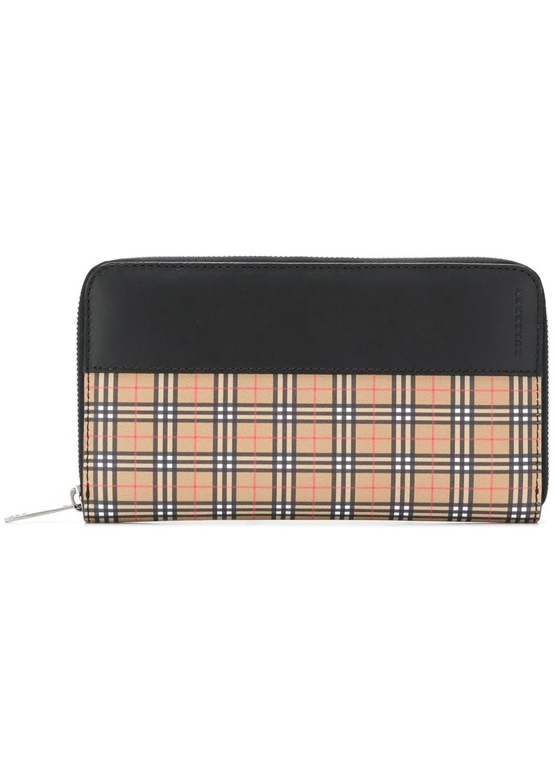 Burberry Scale check ziparound wallet