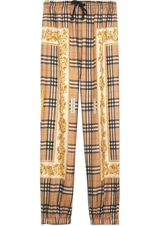 Burberry Scarf Border Vintage Check Silk Drawcord Trousers