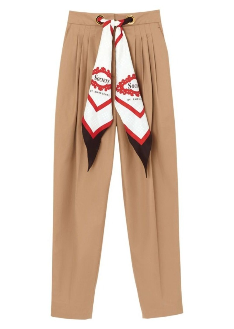 Burberry Scarf Trousers