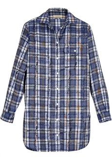 Burberry Scribble Check Silk Shirt