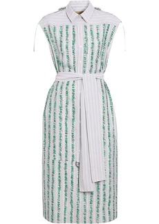 Burberry Scribble Stripe Cotton Shirt Dress