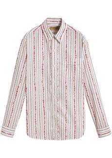 Burberry scribble stripe shirt