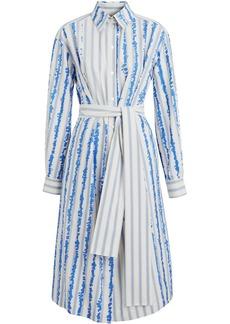 Burberry Scribble Stripe Silk Cotton Shirt Dress