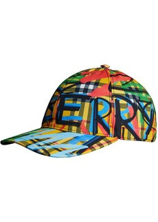 Burberry scribbled graffiti check cap