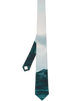 Burberry sea print necktie