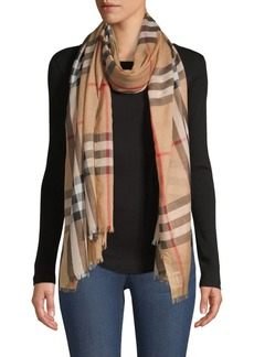 Burberry Sheer Check Scarf