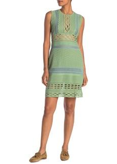 Burberry Sheer Panel Woven Dress