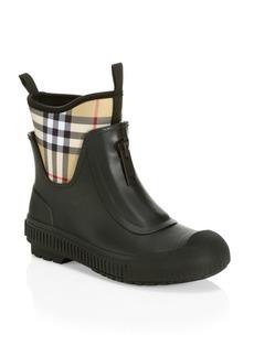 Burberry Short Plaid Rainboots