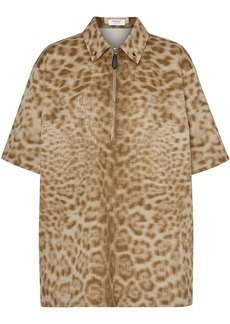Burberry short-sleeve animal print shirt