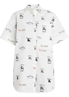 Burberry Short-sleeve Archive Logo Print Shirt