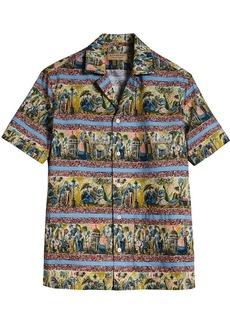 Burberry short-sleeve figurative-print shirt