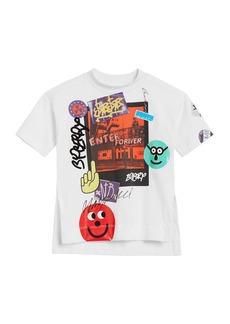 Burberry Short-Sleeve Graphic Photograph T-Shirt