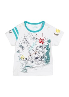 Burberry Short-Sleeve Sailing Print T-Shirt