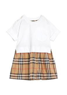 Burberry Short-Sleeve T-Shirt & Plaid Skirt Dress  Size 6M-2