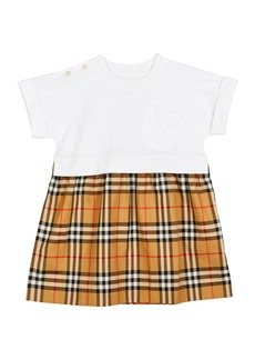 Burberry Short-Sleeve T-Shirt & Plaid Skirt Dress  Size 3-14