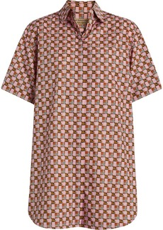 Burberry Short-sleeve Tiled Archive Print Shirt