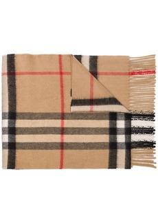 Burberry signature check print scarf