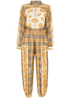 Burberry silk check jumpsuit
