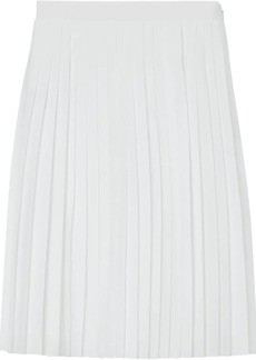 Burberry Silk-lined Pleated Skirt