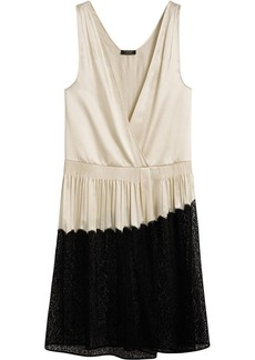 Burberry Silk Satin and Lace Sleeveless Dress