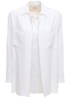 Burberry Silk Satin Regular Shirt