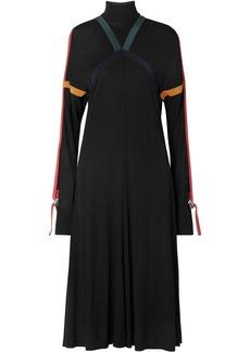 Burberry Silk-trimmed Jersey Midi Dress