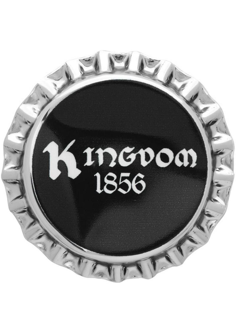 Burberry Silver & Black Bauhaus Bottle Cap Pin