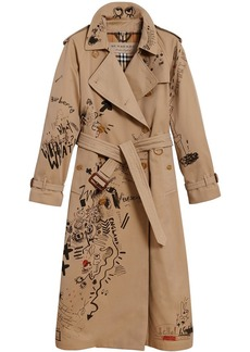 Burberry sketch print trench coat