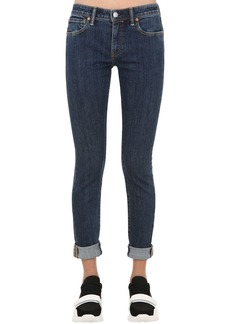 Burberry Skinny Mid Rise Roll Up Denim Jeans