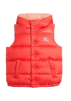 Burberry Skye Hooded Quilted Vest  Size 3-14