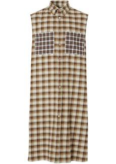 Burberry sleeveless check tunic shirt