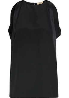Burberry Sleeveless Panelled Silk Top