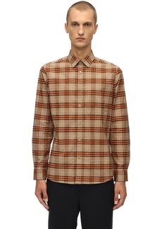 Burberry Slim Check Stretch Cotton Poplin Shirt