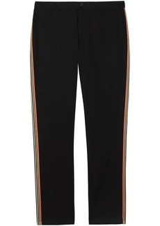 Burberry Slim Fit Icon Stripe Detail Cotton Chinos