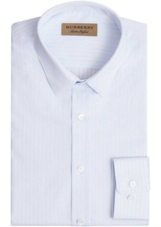 Burberry Slim Fit Striped Dobby Cotton Shirt