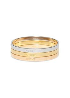 Burberry slogan bracelet set