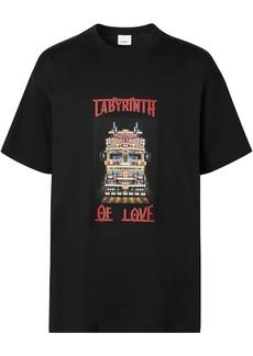 Burberry slogan-print oversize T-shirt